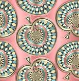 Δημιουργική άνευ ραφής διακοσμητική ταπετσαρία Στοκ εικόνα με δικαίωμα ελεύθερης χρήσης