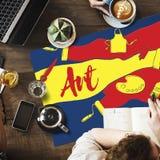 Δημιουργική έννοια έργου τέχνης τέχνης σχεδίου χρώματος Στοκ φωτογραφία με δικαίωμα ελεύθερης χρήσης