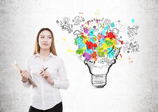 Δημιουργική έννοια επιχειρησιακών ιδεών Στοκ φωτογραφία με δικαίωμα ελεύθερης χρήσης