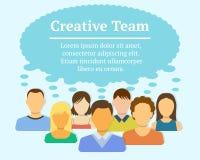 Δημιουργική έννοια ομάδων Στοκ εικόνα με δικαίωμα ελεύθερης χρήσης