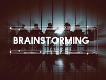 Δημιουργική έννοια στρατηγικής σκέψης 'brainstorming' καταιγισμού ιδεών στοκ φωτογραφία