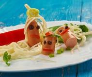 Δημιουργική έννοια τροφίμων Στοκ Εικόνα