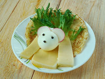 Δημιουργική έννοια τροφίμων Στοκ φωτογραφία με δικαίωμα ελεύθερης χρήσης