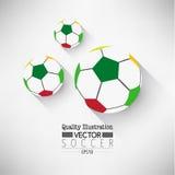 Δημιουργική αθλητική διανυσματική απεικόνιση ποδοσφαίρου ποδοσφαίρου Στοκ φωτογραφίες με δικαίωμα ελεύθερης χρήσης