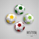 Δημιουργική αθλητική διανυσματική απεικόνιση ποδοσφαίρου ποδοσφαίρου Στοκ εικόνες με δικαίωμα ελεύθερης χρήσης