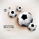 Δημιουργική αθλητική διανυσματική απεικόνιση ποδοσφαίρου ποδοσφαίρου Στοκ εικόνα με δικαίωμα ελεύθερης χρήσης
