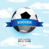 Δημιουργική αθλητική διανυσματική απεικόνιση ποδοσφαίρου ποδοσφαίρου Στοκ Φωτογραφία