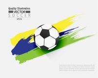 Δημιουργική αθλητική διανυσματική απεικόνιση ποδοσφαίρου ποδοσφαίρου Στοκ Φωτογραφίες
