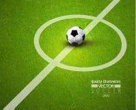 Δημιουργική αθλητική διανυσματική απεικόνιση ποδοσφαίρου ποδοσφαίρου Στοκ φωτογραφία με δικαίωμα ελεύθερης χρήσης