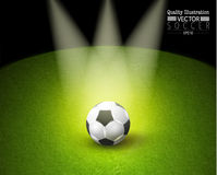 Δημιουργική αθλητική διανυσματική απεικόνιση ποδοσφαίρου ποδοσφαίρου Στοκ Εικόνες