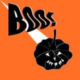 Δημιουργική απεικόνιση αποκριών με τη τρομακτική κολοκύθα στο πορτοκαλί υπόβαθρο Συμβαλλόμενο μέρος αποκριών στοκ φωτογραφία με δικαίωμα ελεύθερης χρήσης