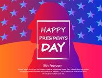 Δημιουργική απεικόνιση με την καθιερώνουσα τη μόδα επίδραση, την αφίσα ή το έμβλημα κλίσης των Προέδρων Day διανυσματική απεικόνιση