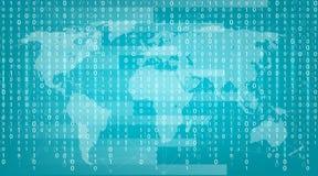 Δημιουργική απεικόνιση του ρεύματος του δυαδικού κώδικα Σχέδιο τέχνης υποβάθρου μητρών υπολογιστών Ψηφία στην οθόνη Αφηρημένη ένν απεικόνιση αποθεμάτων