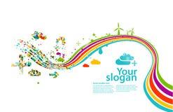 δημιουργική απεικόνιση eco Στοκ εικόνα με δικαίωμα ελεύθερης χρήσης