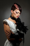Δημιουργική γυναίκα μόδας Στοκ φωτογραφία με δικαίωμα ελεύθερης χρήσης