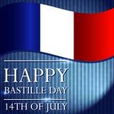 Δημιουργική διανυσματική απεικόνιση για το 14ο του Ιουλίου Ευτυχής ημέρα Bastille διανυσματική απεικόνιση