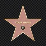 Δημιουργική διανυσματική απεικόνιση του διάσημου αστεριού δραστών πεζοδρομίων Περίπατος Hollywood του σχεδίου τέχνης φήμης Αφηρημ απεικόνιση αποθεμάτων