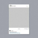 Δημιουργική διανυσματική απεικόνιση του κοινωνικού πλαισίου στηριγμάτων φωτογραφιών μέσων που απομονώνεται στο υπόβαθρο Πρότυπο σ ελεύθερη απεικόνιση δικαιώματος