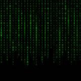 Δημιουργική διανυσματική απεικόνιση του ρεύματος του δυαδικού κώδικα Σχέδιο τέχνης υποβάθρου μητρών υπολογιστών Ψηφία στην οθόνη  ελεύθερη απεικόνιση δικαιώματος