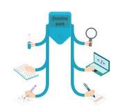 Δημιουργική εννοιολογική απεικόνιση εργασίας απεικόνιση αποθεμάτων