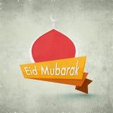Δημιουργική ετικέττα για τον εορτασμό φεστιβάλ Eid Στοκ Φωτογραφία