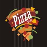 Δημιουργική καλλιτεχνική φοβιτσιάρης πίτσα ύφους γραφική απεικόνιση αποθεμάτων