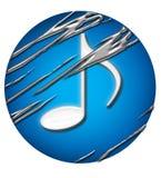 δημιουργική μουσική 2 κύκλων Διανυσματική απεικόνιση