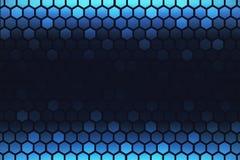 Δημιουργική μπλε εξαγωνική ταπετσαρία ελεύθερη απεικόνιση δικαιώματος