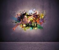 Δημιουργική μόδα Στοκ εικόνα με δικαίωμα ελεύθερης χρήσης