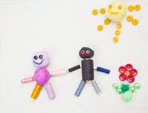 Δημιουργική οικογενειακή έννοια στοκ εικόνες