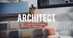 Δημιουργική πείρα Concep επαγγέλματος μηχανικών σχεδιαστών αρχιτεκτόνων Στοκ Φωτογραφίες