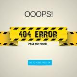 Δημιουργική σελίδα που δεν βρίσκεται, λάθος 404 ελεύθερη απεικόνιση δικαιώματος