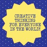 Δημιουργική σκέψη κειμένων γραφής για το καθένα στον κόσμο Έννοια δημιουργικότητα έννοιας σε άλλοι δεκατέσσερα 14 απεικόνιση αποθεμάτων