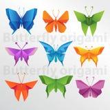 Δημιουργική τέχνη εγγράφου πεταλούδων Origami στοκ εικόνες