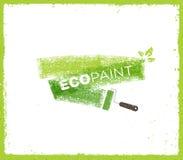 Δημιουργική τραχιά διανυσματική έννοια βουρτσών Grunge χρωμάτων Eco Στοκ Φωτογραφίες