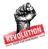 Δημιουργική Grunge επαναστάσεων διανυσματική έννοια SocialProtest στο τραχύ υπόβαθρο Grunge ελεύθερη απεικόνιση δικαιώματος