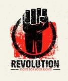 Δημιουργική Grunge επαναστάσεων διανυσματική έννοια SocialProtest στο τραχύ υπόβαθρο Grunge διανυσματική απεικόνιση