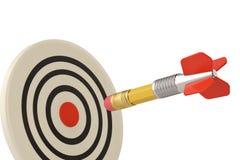 Δημιουργικοί στόχοι μάρκετινγκ στόχων και επιχειρήσεων με τα βέλη ν μολυβιών ελεύθερη απεικόνιση δικαιώματος