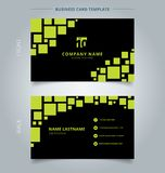 Δημιουργικός γεωμετρικός πράσινος προτύπων επαγγελματικών καρτών και καρτών ονόματος σχετικά με ελεύθερη απεικόνιση δικαιώματος