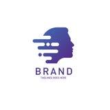 Δημιουργικός εγκέφαλος λογότυπων ατόμων επικεφαλής απεικόνιση αποθεμάτων
