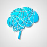 Δημιουργικός εγκέφαλος διανυσματική απεικόνιση