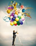 Δημιουργικός επιχειρηματίας στοκ εικόνα