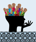 Δημιουργικός ζωγράφος απεικόνιση αποθεμάτων