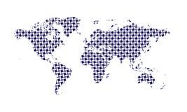 Δημιουργικός παγκόσμιος χάρτης με το παράξενο σχέδιο Στοκ Φωτογραφία