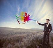 Δημιουργικός στην επιχείρηση στοκ εικόνα