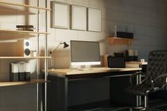 Δημιουργικός χώρος εργασίας απεικόνιση αποθεμάτων