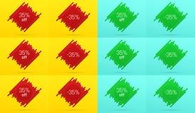 Δημιουργικό έμβλημα πώλησης με 35 μακριά προσφορά Στοκ εικόνες με δικαίωμα ελεύθερης χρήσης
