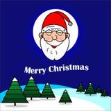 Δημιουργικό έμβλημα Χαρούμενα Χριστούγεννας claus santa διανυσματική απεικόνιση