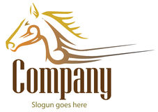 Δημιουργικό έμβλημα σχεδίου Άλογο λογότυπων Στοκ φωτογραφία με δικαίωμα ελεύθερης χρήσης