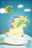 Δημιουργικό έργο τέχνης με το άλογο Στοκ εικόνες με δικαίωμα ελεύθερης χρήσης